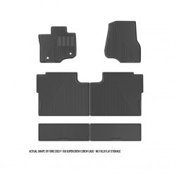 FORD 2021 F-150 Supercrew (Crew Cab) – no fold flat storage floor mats